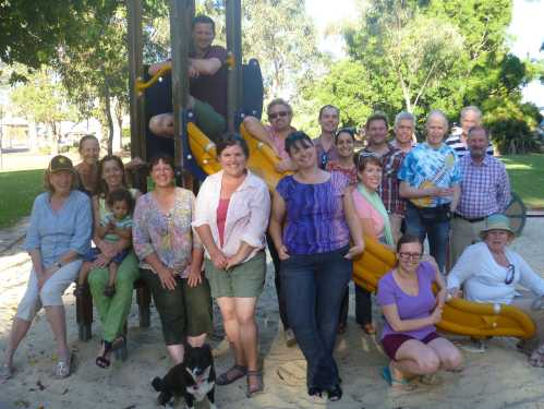 Happy Transitioners at the 2012 Christmas picnic, including Guildford ward councillor Ted Williams