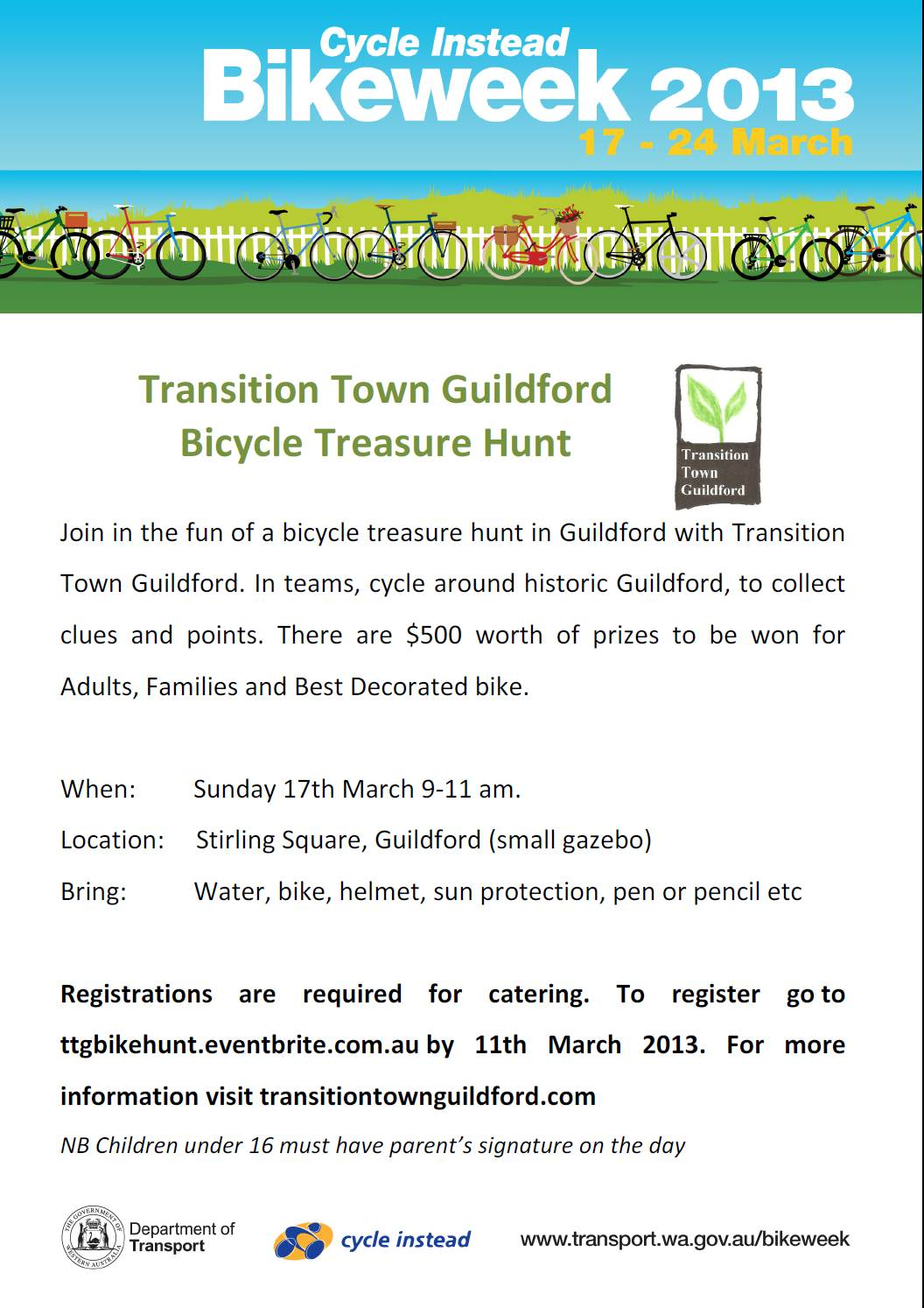 Poster of bike event details