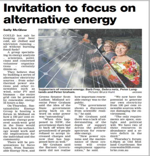 Midland Reporter article on the energy forum
