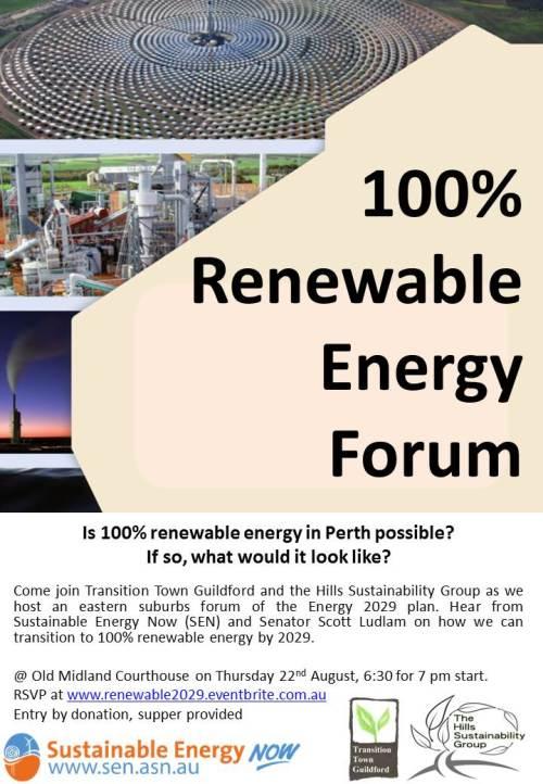 Renewable Energy forum poster