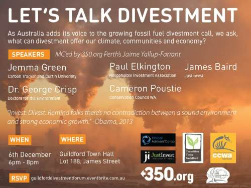 Divestment forum poster