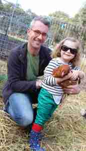 Tim & Olive with new friend