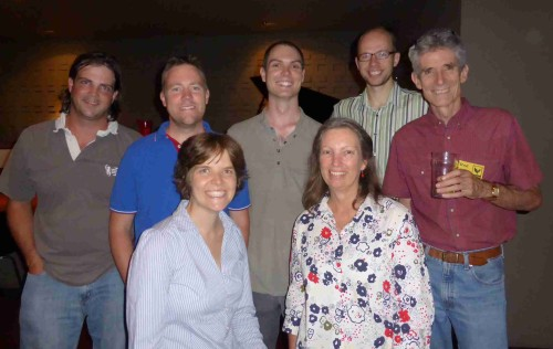 Members of the Guildford Energy initiating team: Ben, Ash, Emily, Peter, Jenny, Bernhard & Rod