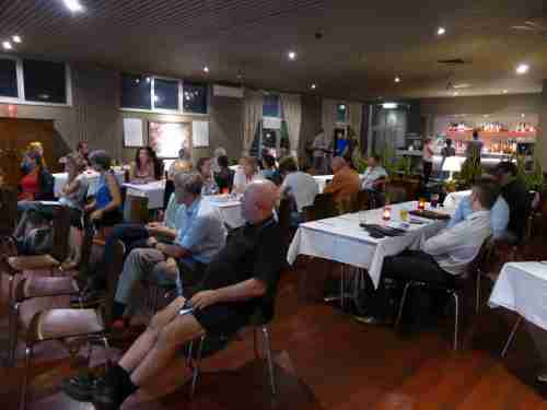 Guildford Energy crowd  eager with questions and ideas
