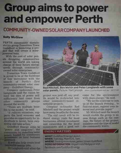 Midland Reporter article 25th March 2014