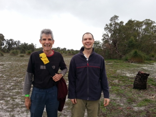 Rod and I after the plant - look how happy planting trees makes you!