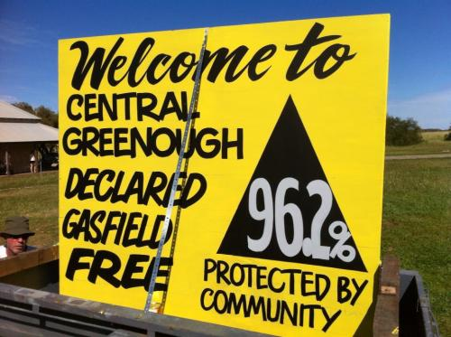 Greenough gasfield free