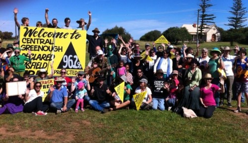 Celebrating the first WA Gasfield Free Community! (Photo Jaime Yallup Farrant)