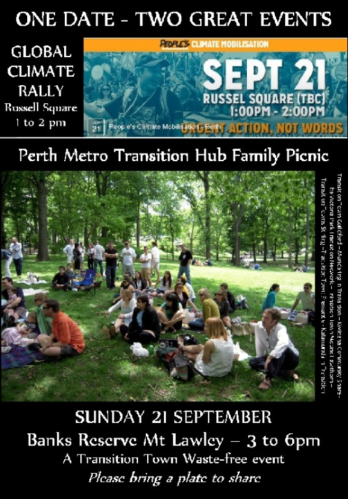 Transition Hub picnic 21 Sep